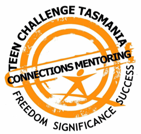 logo Teen ChallengeMentoring Tas orange figure in rondels