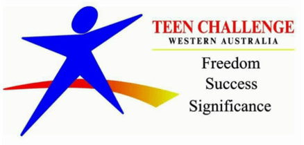 logo Teen Challenge WA blue figure
